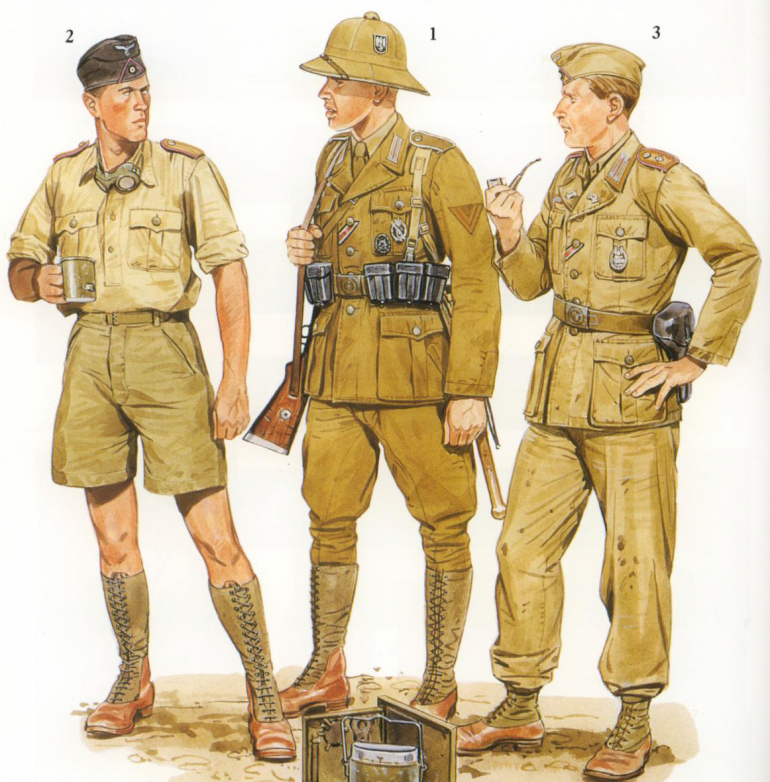Afrika Korp colour plate from Osprey