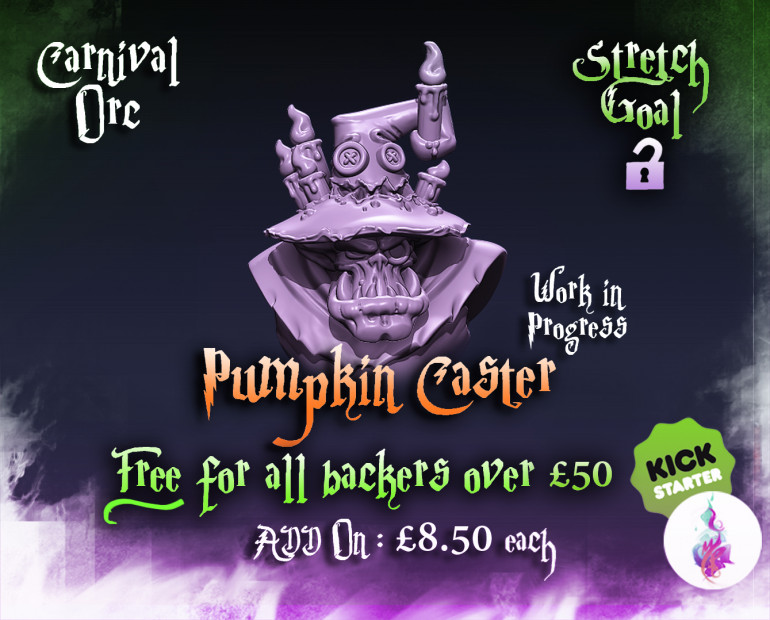 Carnival Orc Pumpkin Caster Preview :) Final 24 hours :)
