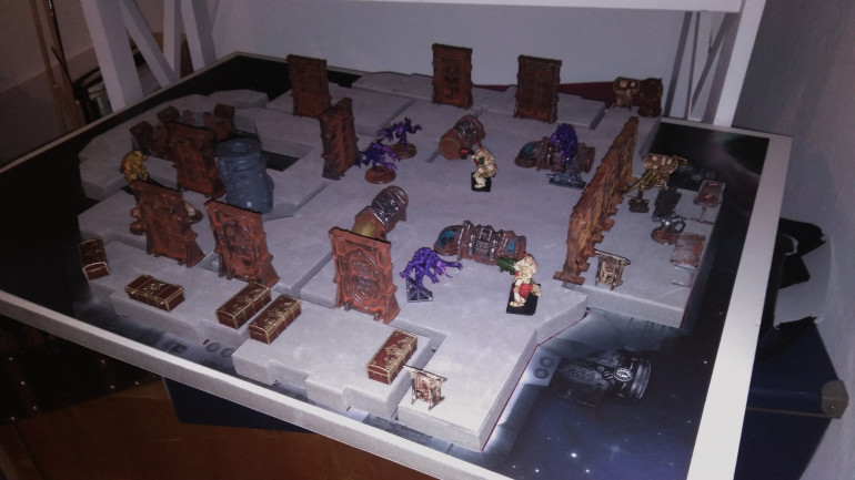 Just took the scenery and lay it out with some minis, had a little fun.