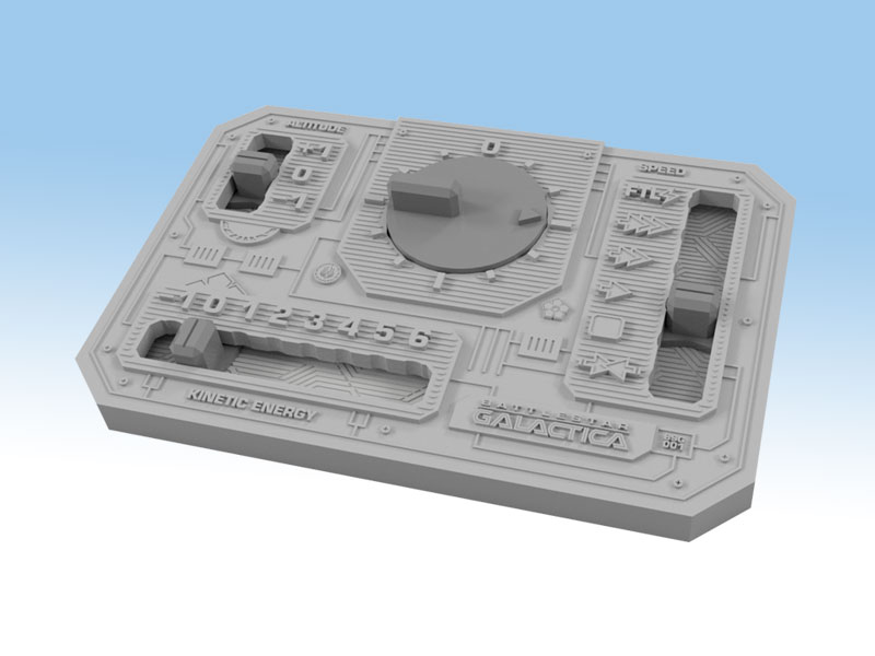 Battlestar Galactica Starship Battles Control Panel - Ares Games