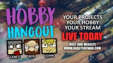 Hobby Hangout Live 12pm GMT