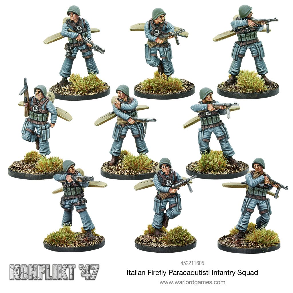 Italian Firefly Paracadutisti Infantry Squad #1 - Warlord Games