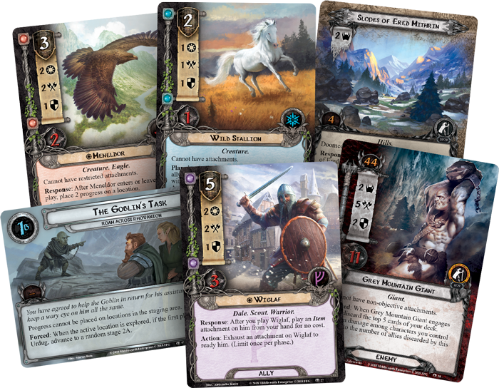 LotR LCG Roam Across Rhovanion Card Fan - FFG
