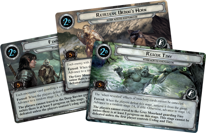 LotR LCG Roam Across Rhovanion Quest Cards - FFG