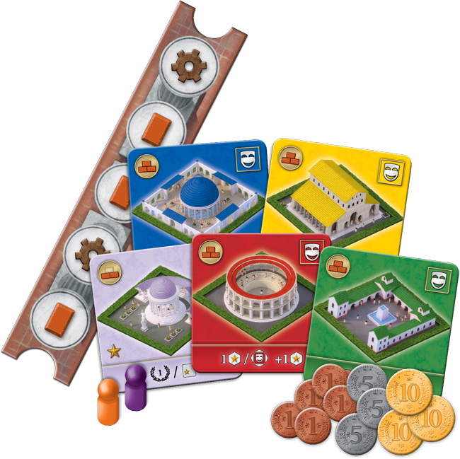 The Great City Of Rome Components - Z-Man Games