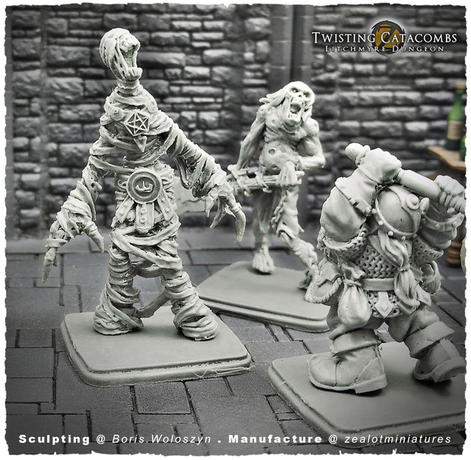 Twisting Catacombs Fight #1 - Zealot Miniatures