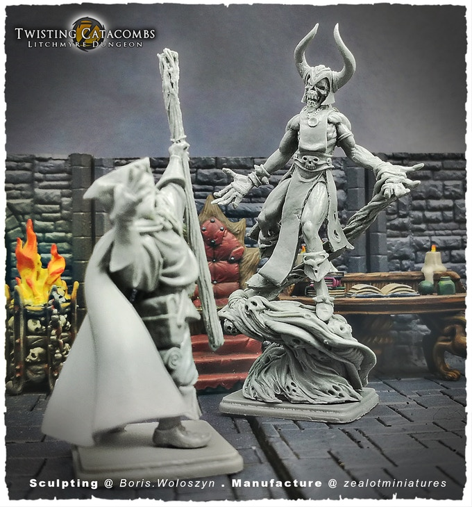 Twisting Catacombs Fight #2 - Zealot Miniatures