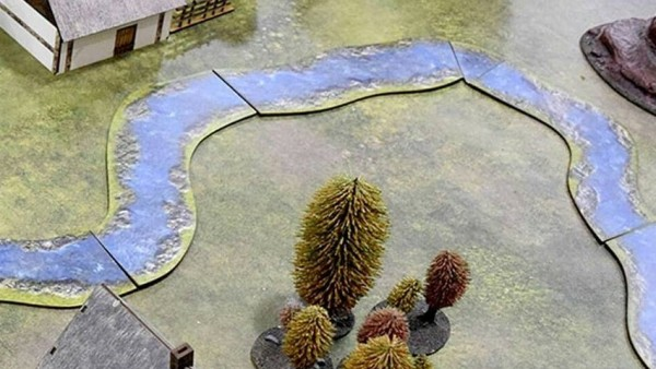 Bandua Wargames Create 2D Modular Rivers & Craters For Your Tabletops