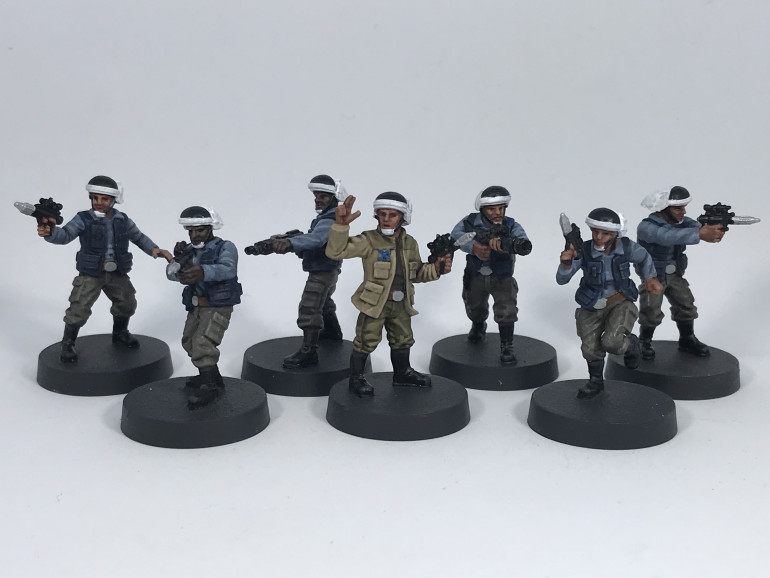 These are the finished miniatures with all the highlights