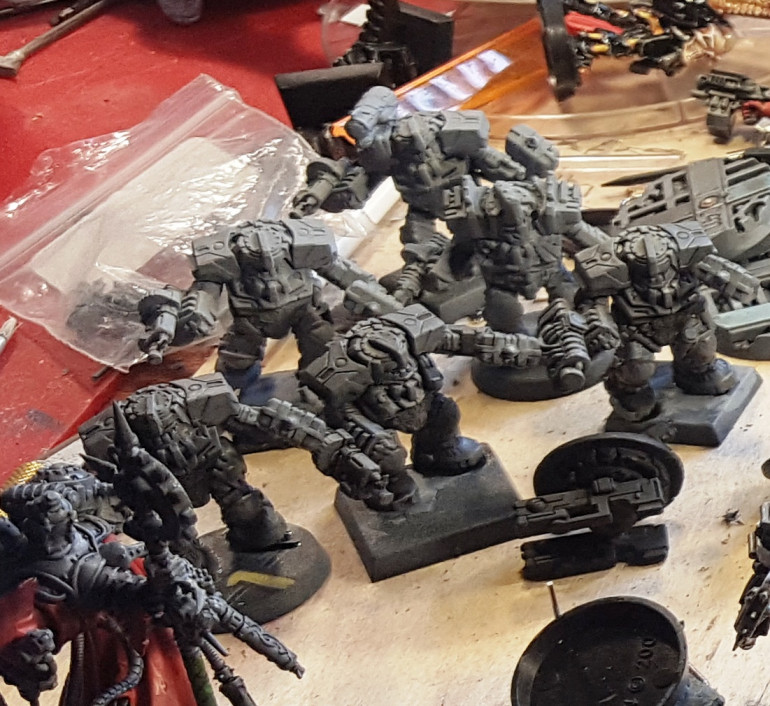 Always wanted Space Dwarves - in power Armour - Thank you Mantic!!! - Flash cleaned, washed and primed