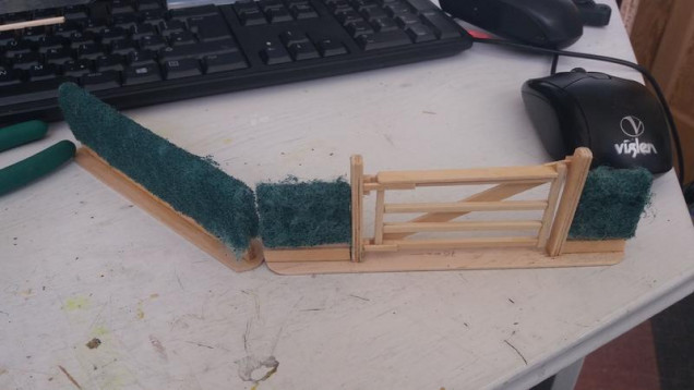 Some initial trials The gate is made from square bamboo rods I got from a shop called