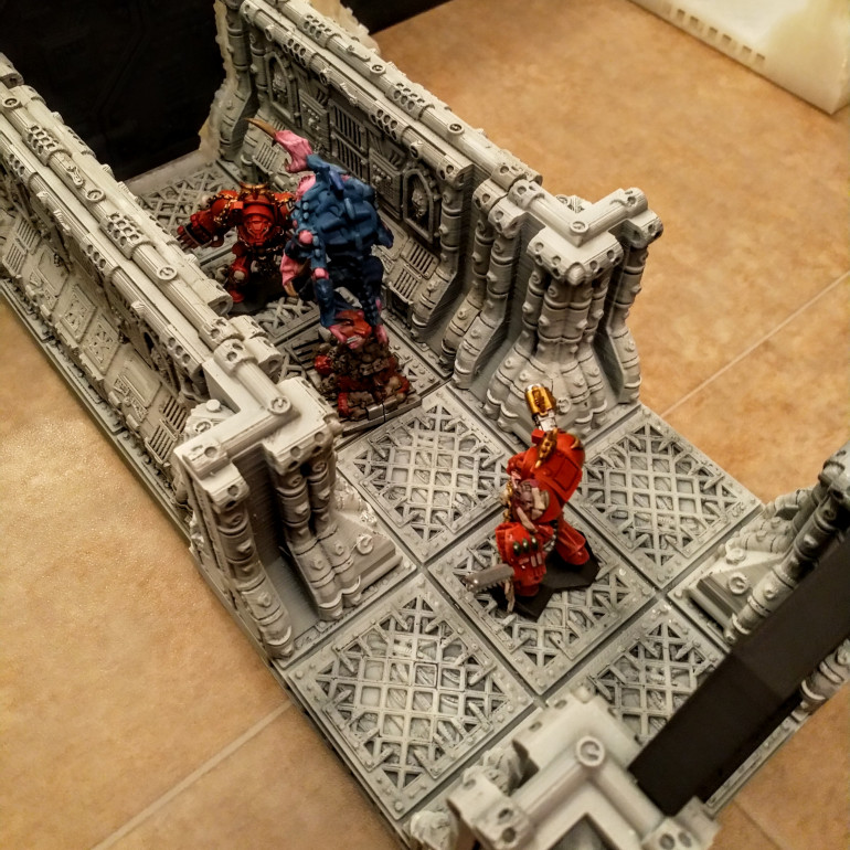 3d Printed Space Hull Corridor with Terminators and Broodlord