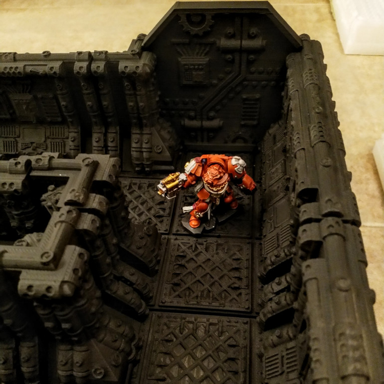 Space Hulk Terminator in Corridor