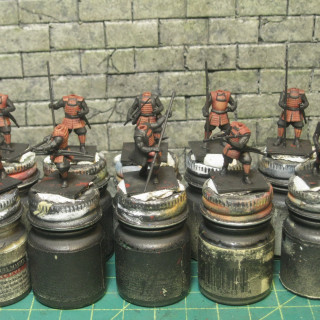 The start of the last ten bodyguards for Takeda's main force.