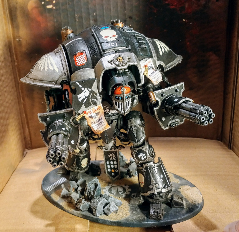 The 'Knight With No Name' complete.