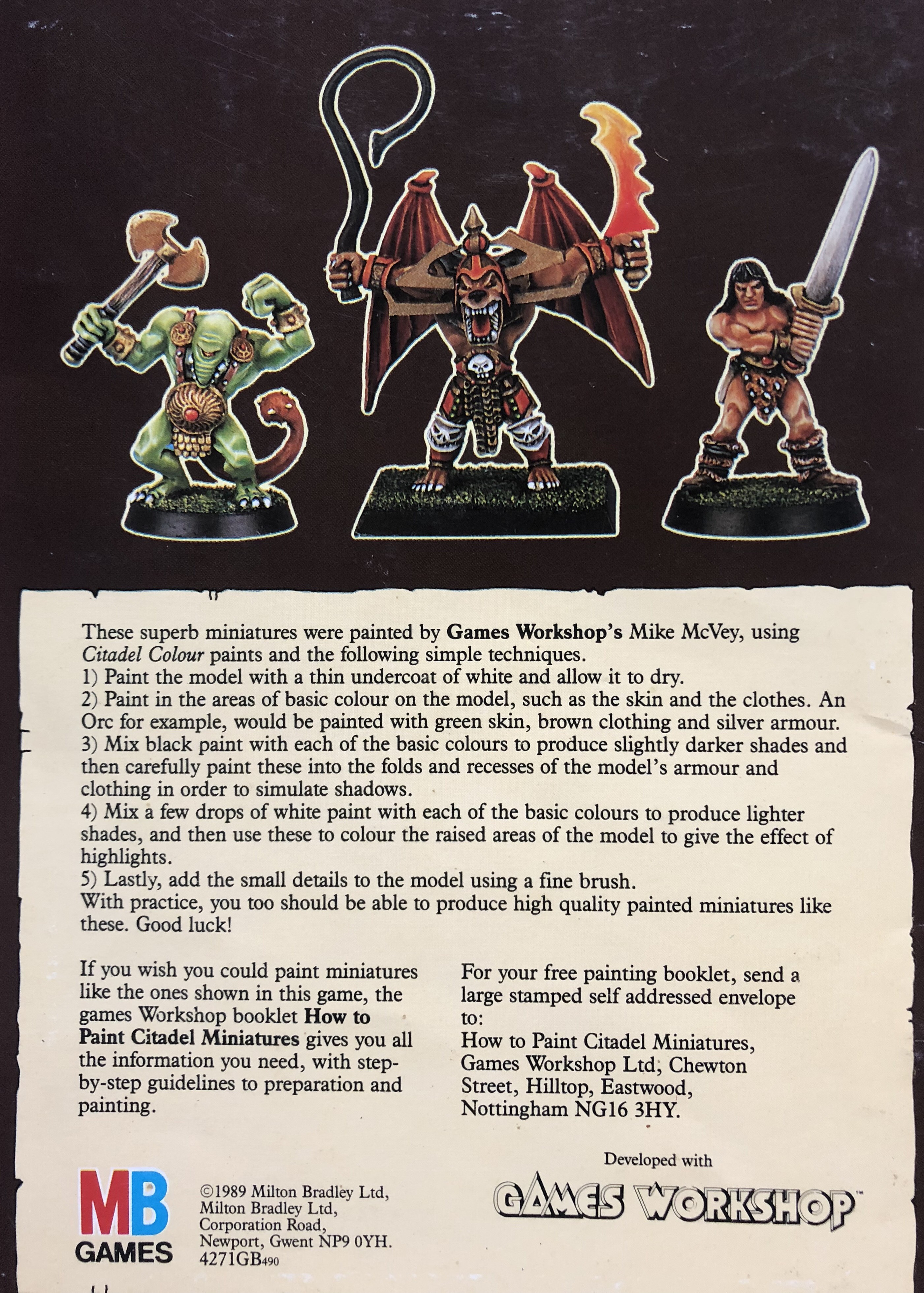 The Painting Guide from HeroQuest