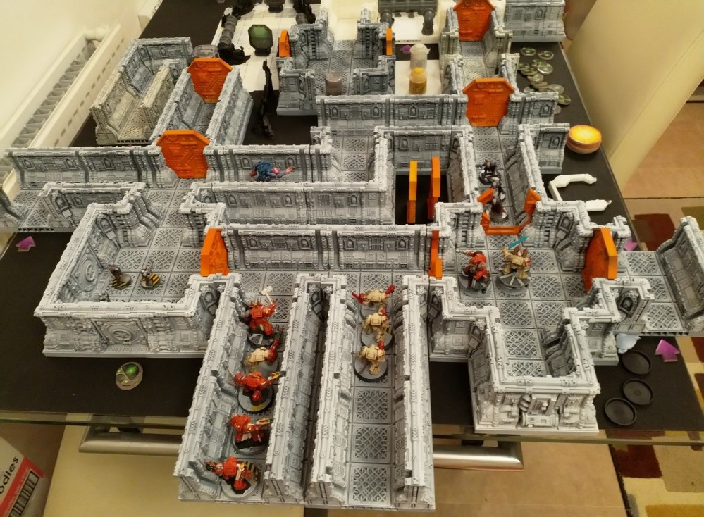 3d Printed Space Hulk Terrain (stl files from Printable Scenery)
