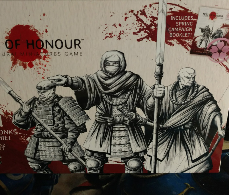 I decided to start building a SoHei warrior Monk army first for TOH. I love the history of the Monks and how they influenced Japan through the ages. This first box set will give me 12pts out of the needed 20pts for the campaign.
