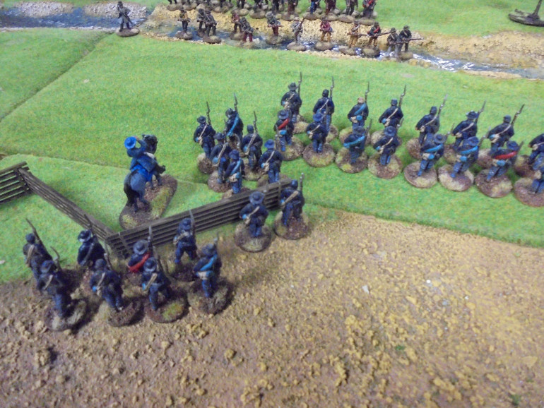 The Confederates then stormed the river with surprising speed and caught Marshall's men with a murderous volley