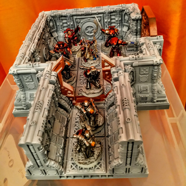 Prospero Minis on the Space hulk board