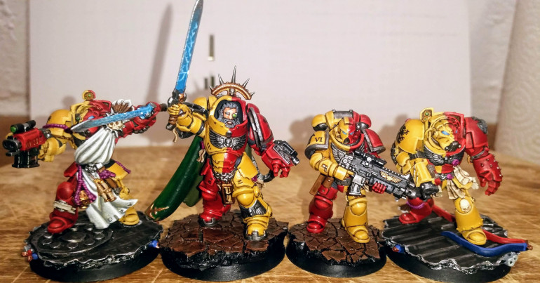 Size comparison between the Primaris and the Terminators.