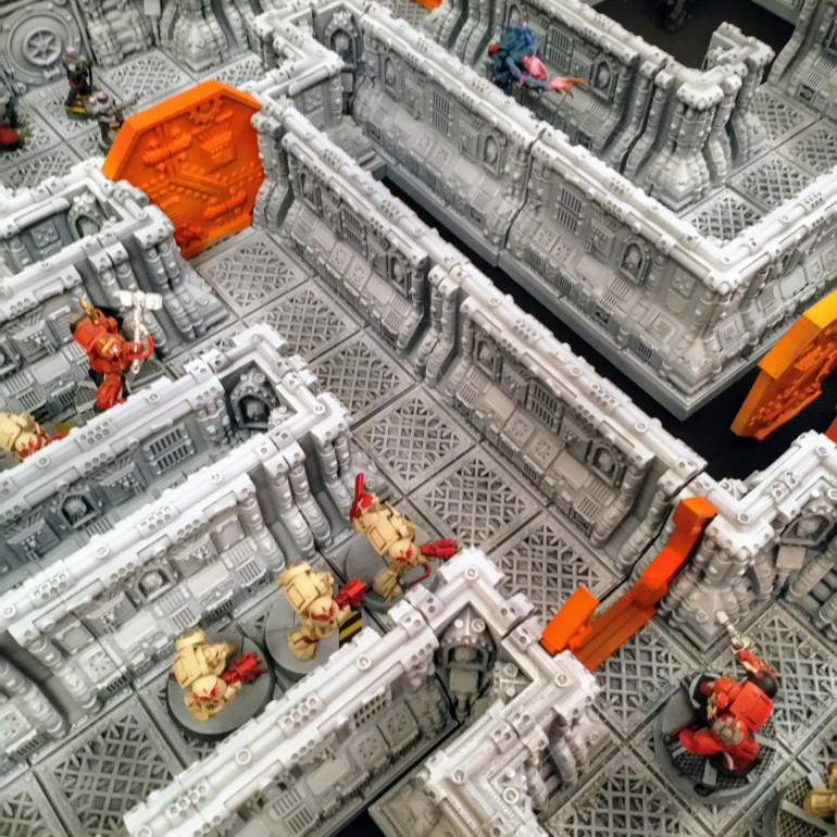 3d Printed Space Hulk Terrain (stl files from Printable Scenery