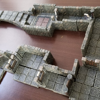 Space Hulk using Dwarven Forge Fantasy Tiles