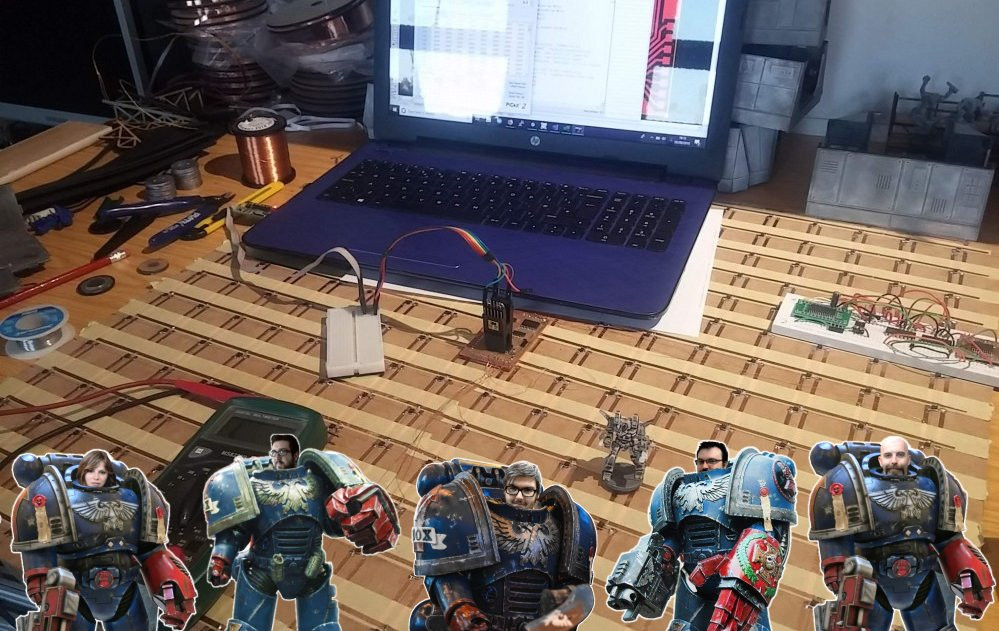 Interactive tabletop playing surface (Space Hulk Hobby Challenge)