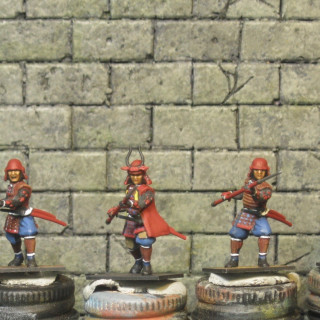I painted up 5 of my 20 bodyguards for Takeda today.