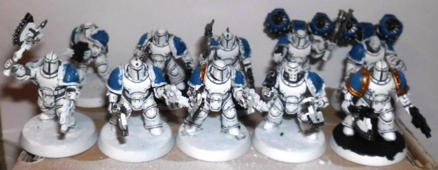 16th day: White armour of 10 dudes done.