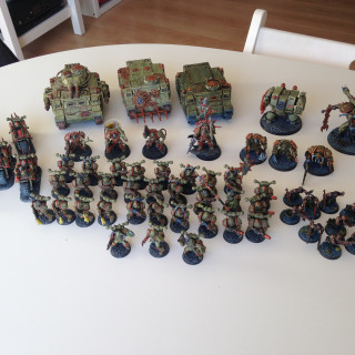 Plague Marines; My first foray into 40K