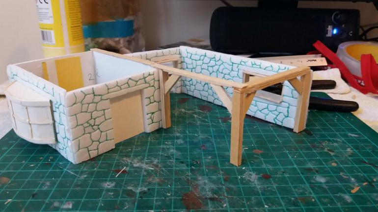 Some woodwork added, coffee stirrers naturally :D