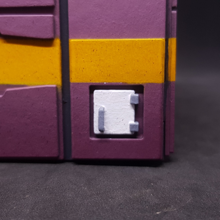 Rear first aid box - Taking this up to white from a dark plum colour is a nightmare I need to do this off model then attach it.