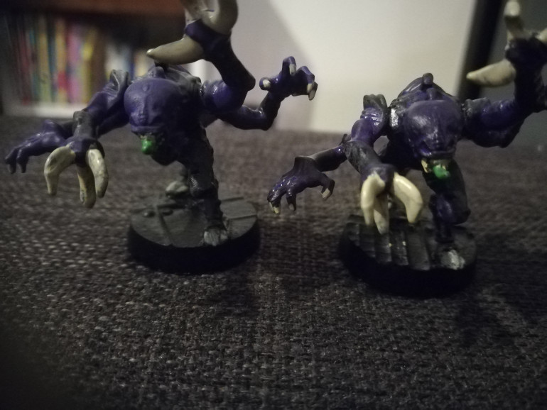 The genestealers have had their first coats of colour, i am planning to work on the lighter shades next and details followed by some quickshade