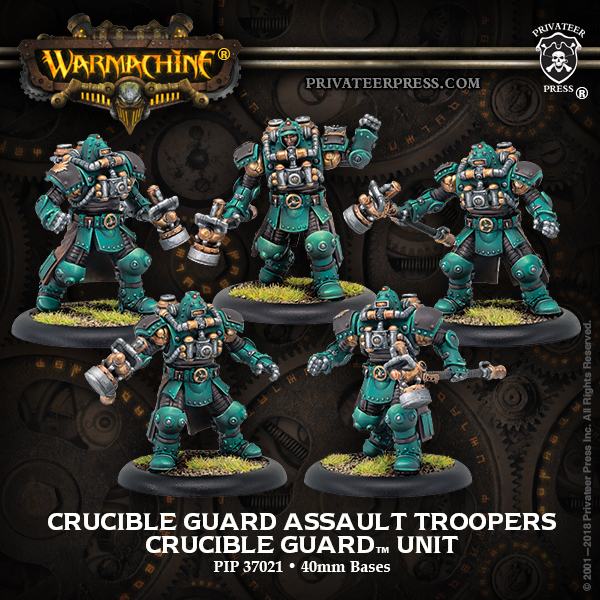 Crucible Guard Assault Troopers - Warmachine