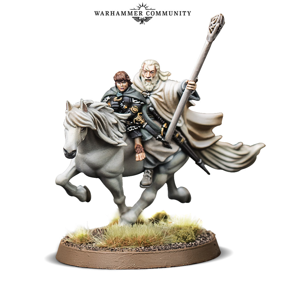 Gandalf & Pippin On Horse - Games Workshop