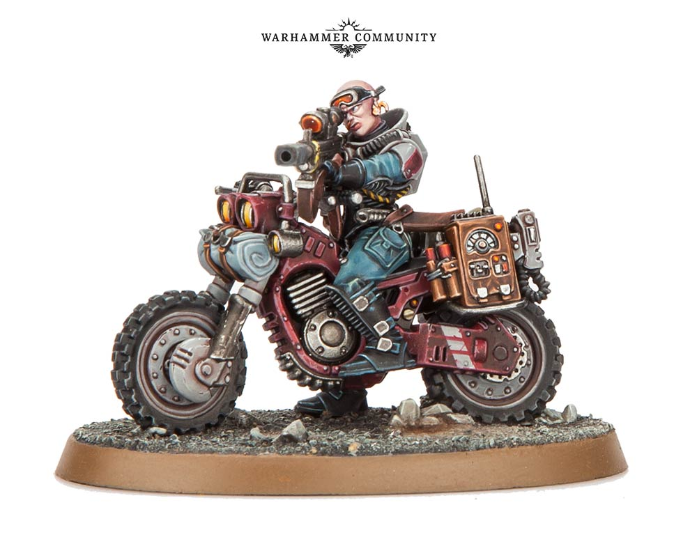 Genestealer Cultist Biker Sniper - Games Workshop