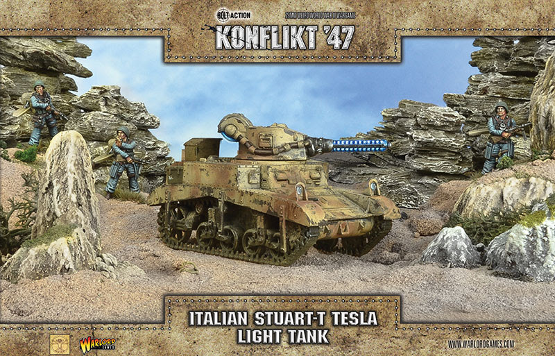 Italian Stuart-T Telsa Light Tank - Warlord Games