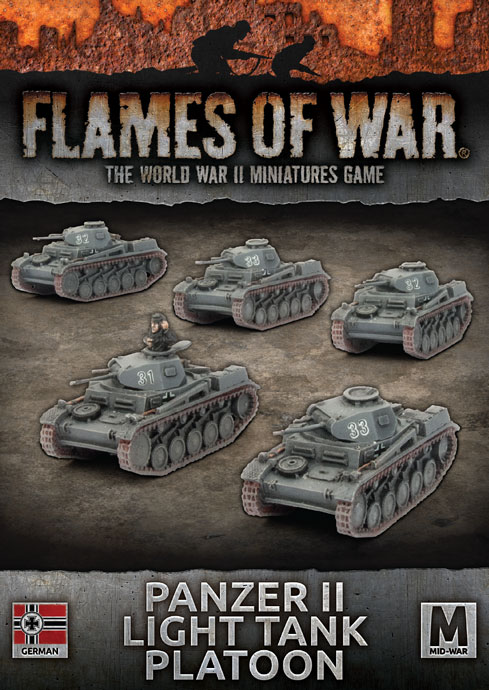 Panzer II Light Tank Platoon - Flames Of War