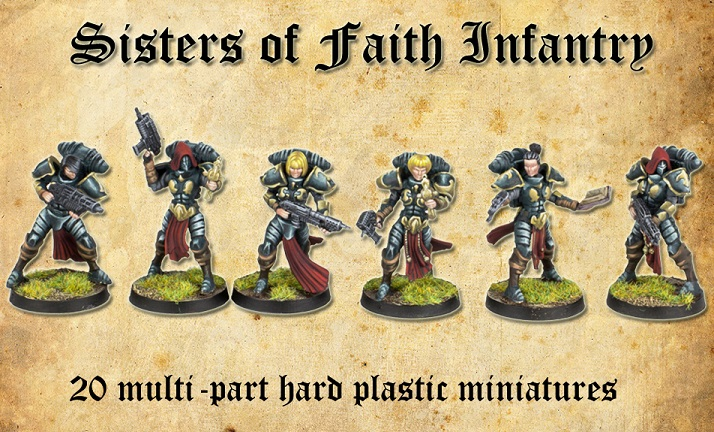 Sisters Of Faith Infantry - Shieldwolf Miniatures