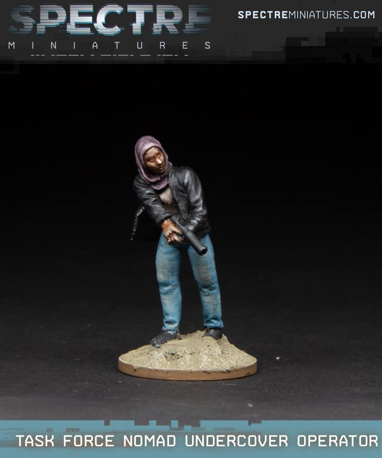 Task Force Nomad Undercover Operator - Spectre Miniatures