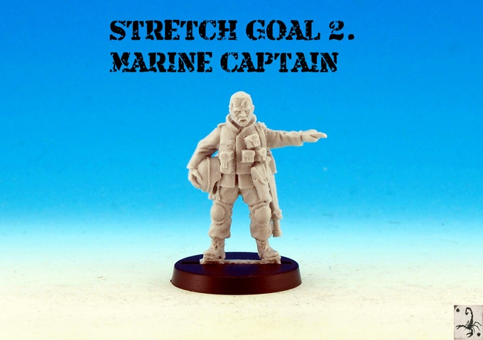 US Last Patrol Marine Captain - Black Scorpion