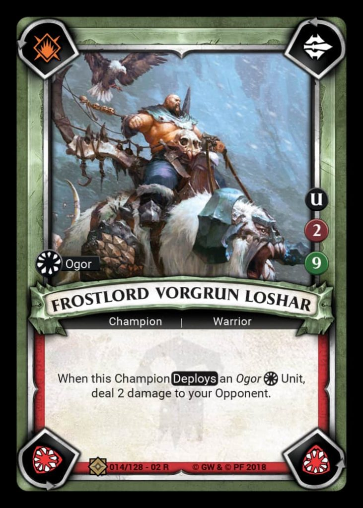 Vorgrun Card Reveal - Age Of Sigmar Champions