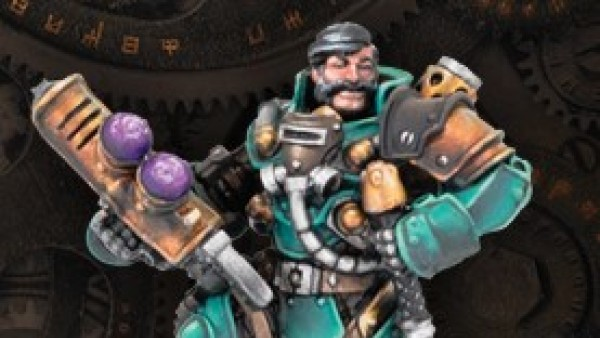Meet Warmachine's Dashing Baldwin Gearhart & Mr Clogg