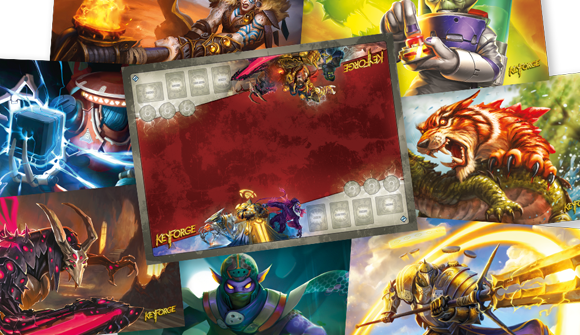 Battle For The Crucible With New Keyforge Mats By Ffg