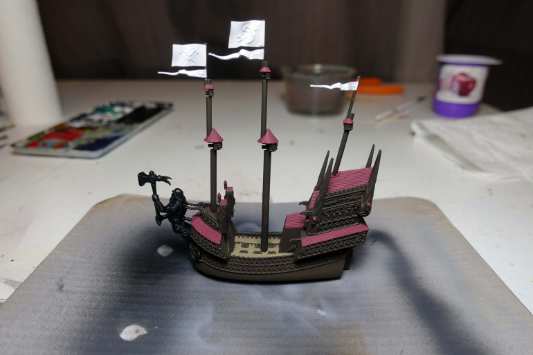 Base coating the ships