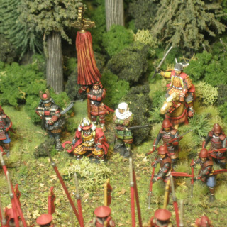 Takeda's army is painted