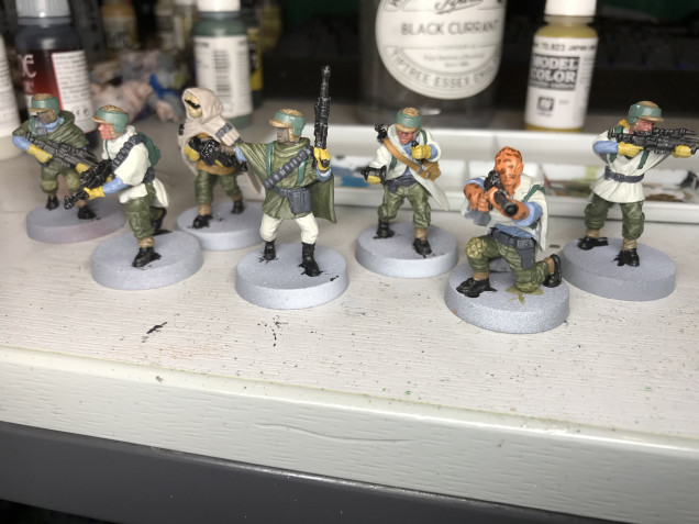 This is before washing and adding camo on the cloaks