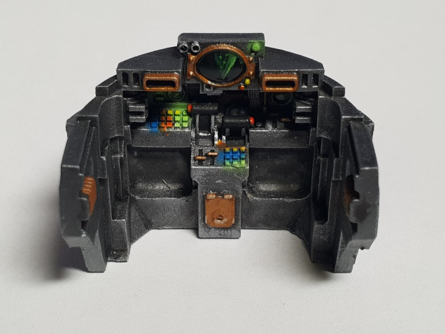 The cockpit dashboard, before it gets buried by the crew