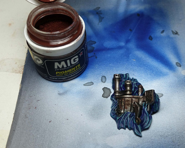 After using Mig Old Rust.
